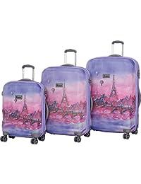 IT Luggage Ionian Classic 8 Wheel Paris Baloons 3 Piece Set