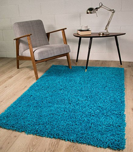 The rug house teal blu tappeto spesso, 7 taglie disponibili, teal blue, 80_x_150_cm