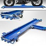BITUXX® Motorrad Rangierhilfe fur Seitenständer Rangierschiene Motorrad Rollwagen Rolli Für Seitenständer Belastbar bis 270 kg