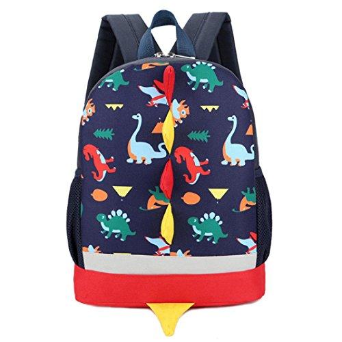 n Mädchen Kinder Dinosaurier Muster Tier Rucksack Kleinkind Schulranzen Tagesrucksack (DB) (Halloween-geschenk-körbe Für Kleinkinder)