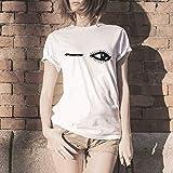 Luckycat Camisetas de Mujer de Manga Corta Impresión de Labios Camisa Joker Informal Creativa Lindo Blusa T-Shirt Elegantes Casual Deporte T Shirt Moda Cuello Redondo Suelto Tops
