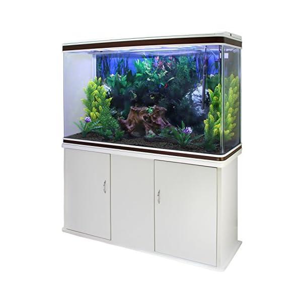 MonsterShop Fish Tank Aquarium Large Marine Tropical Salt Water & Complete Starter Kit, Filter, Air Pump, Heater Plants…