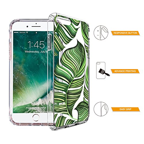 Tropical Case for iPhone 7 Plus iPhone 8 Plus Banana Leaves