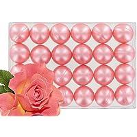 Caja de 24 perlas de aceite de baño nacaradas - perfume rosa