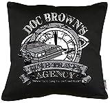 TLM Doc Brown Time Travel Cuscino con imbottitura 40x 40cm