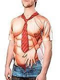 Boland 84238 - Fotorealistisches Shirt Casanova, Kostüme für Erwachsene, Mehrfarbig, Gr. L
