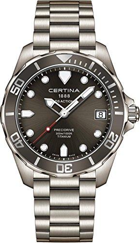 Certina DS-Action-1 Herren-Armbanduhr 41mm Titan Batterie C032.410.44.081.00