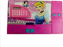 Jumbo Pencil Box with Calculator (Free USB LED Light) (Princess)