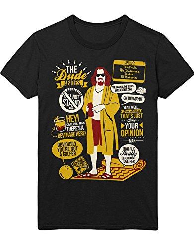 Hypeshirt T-Shirt The Dude Abides Quotes Big Lebowski C112270 Schwarz XXXL -