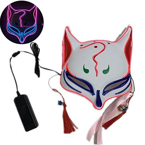 JFSKD Halloween Maske LED Fuchs Fuchs Maske Halloween Karneval Karneval Party Maskerade