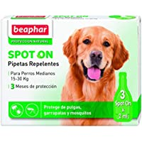 Beaphar BEA10615 Pipetas Repulsivas para Perro Mediano, 3 Unidades