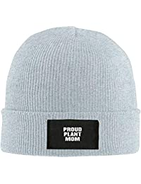 Proud Plant Mom New Winter Fashion Hats Knitted Twist Cap Thick Beanie Hat Ash