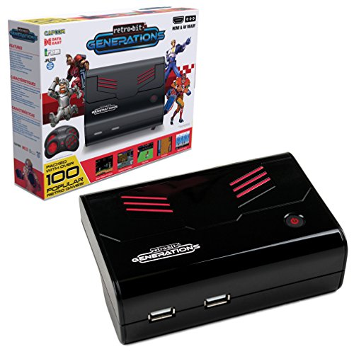 Retro-Bit Generations - Plug and Play Game Console Red/Black Over 90+ Retro -
