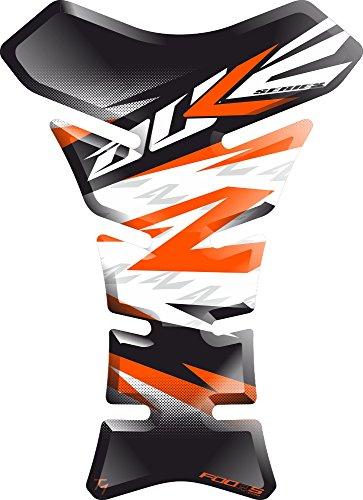 Motorrad Gas Displayschutzfolie Aufkleber/3D Gummi Fuel Tank Pad Tankpad Displayschutzfolie Aufkleber für KTM Duke 125 250 690 790 1029 (Weiß/orange)