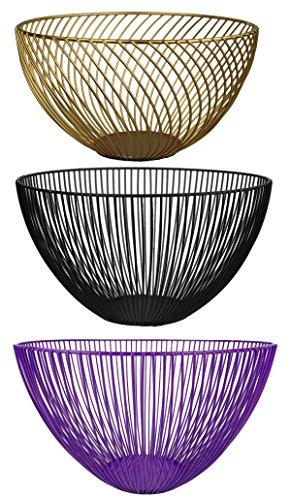 GMMH cesto Portafrutta cestino per il pane in metallo vaso regalo cestino filo ferro cestino decorativo colore a scelta bianco