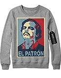 Sweatshirt Pablo Escobar 'EL PATRON' C665424 Grau M