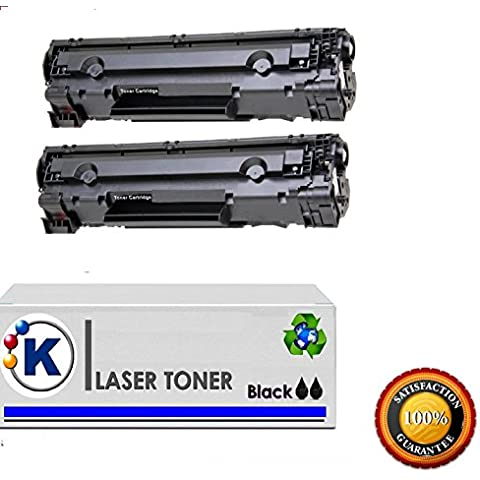 Konver K-Q2612-AK-12A Pack 2 toner compatible Sustituye Q2612A, 12A LaserJet 3030 All-In-One - LaserJet 3052 - LaserJet 3050 - LaserJet 3055 -LaserJet serie M1319f - LaserJet M1005 - LaserJet 1050 - LaserJet M1319F MFP 3030 All-In-One -LaserJet 3052 - LaserJet 3050 - LaserJet 3055