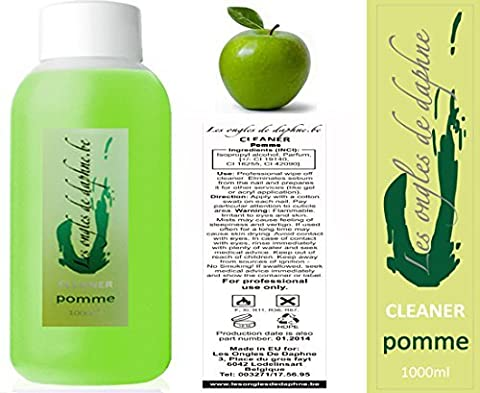 Cleaner Odeur Pomme 1 Litre Nail art dégraissant ongles gel