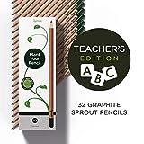 Sprout Pencils | Edizione speciale per insegnanti | Matite da piantare Sprout in grafite e legno ecosostenibile con semi | Astuccio da 32 | Confezione regalo con semi di fiori ed erbe aromatiche