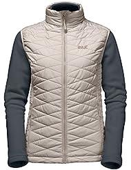 Jack Wolfskin Glen Vest Women–Chaleco con forro polar para mujer, todo el año, mujer, color marrón arena, tamaño extra-small
