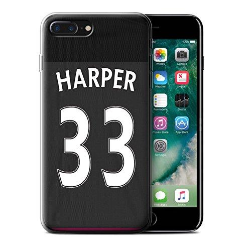 Officiel Sunderland AFC Coque / Etui Gel TPU pour Apple iPhone 7 Plus / Watmore Design / SAFC Maillot Extérieur 15/16 Collection Harper