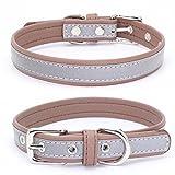 Balock Schuhe Welpen Hundehalsband,Einstellbare Mikrofaser Halsband Puppy Cat Halskette,Hundehalsbänder für Welpen,Katzen,für Mädchen Jungen (Kaffee, XS)