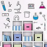 Mddjj% Pvc Microscopio Scienza Scienziato Chimica Scuola Laboratorio Vinile Wall Sticker Home Decor Per Camera Dei Bambini Soggiorno Camera Da Letto