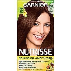 Garnier Nutrisse Permanent Haircolor, 434 Deep Chestnut Brown (Packaging May Vary)