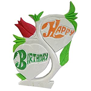 "Salvus App SOLUTIONS Unique Birthday Gifts-Marble Handmade ""Happy Birthday"" Marble Name Art birthday gifts surprise"