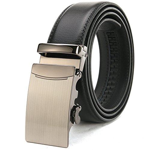 Minweier® Herren Automatik Gürtel in Schwarz mit Geschenkbox- 35mm Breite