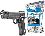Nerd Clear Softair Pistole Vollmetall 700g 1 zu 1 Nachbau   inkl. 5000 Bio-Munition
