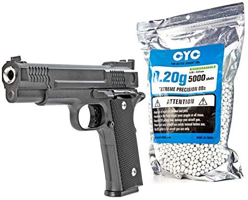 Nerd Clear Softair Pistole Vollmetall 700g 1 zu 1 Nachbau | inkl. 5000 Bio-Munition