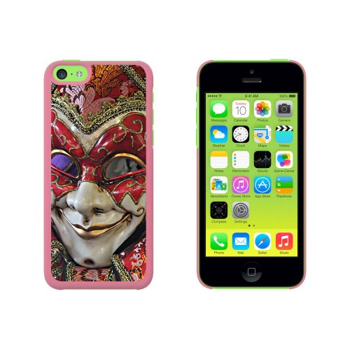 New Orleans Mardi Gras Maske Snap On Hard Schutzhülle für Apple iPhone 5 C – Pink