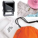 Sello Trodat 4911de goma personalizado para marcar uniformes escolares y otras prendas de ropa
