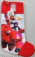 Big Hero 6 bellissima calza in peluche imbottito di alta qualità con personaggio Big Hero 6. Con occhiello in raso per essere appesa all'albero e/o al camino Immagine stampata su entrambi i lati, rifiniture eccezionali, interno completamente ...