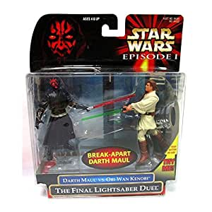 Star Wars: Episode 1 - The Final Lightsaber Duel (Obi-Wan vs. Darth Maul) Action Figure 2-Pack by Hasbro