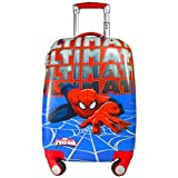 Texas Usa Polycarbonate 18 Inch Spiderman Blue 2000Cms 4 Wheel Kids Hardsided Trolley Bag