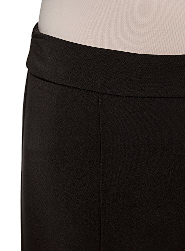 oodji Ultra Damen Hose Slim Fit Basic Schwarz (2900N)