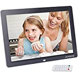 Andoer 12 '' HD TFT-LCD 1280x800 Vollansicht Digital Photo Frame Wecker MP3 MP4 Video-Player mit Remote Desktop