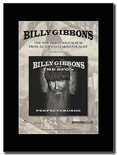 ZZ Top-Billy The Gibbons & BFG s-Perfectamundo. Magazine Promo su un supporto, colore: nero