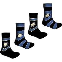 Licenziatario Proctor Srl Confezione da 4 Paia Calzini Uomo Corti in Cotone Soft - Loghi Sponsor Juventus, Inter, Milan…