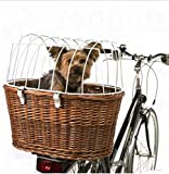 Handy, Comfortable Bicycle Basket With Protective Wire - Safe Mounting On The Bicycle Luggage Rack - Suitable For E-bikes - Made In Germany - Max. Dog's Weight: 10kg
