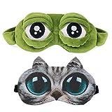 Schlafmaske Schlafbrille Frauen Kinder Herren Damen Frosch Katze Hund Muster Katzenmaske Interessant Einhorn 3D Schlafmaske Lustig