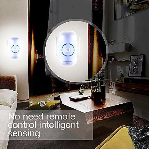 Podofo Human Body Detective LED Light Plug In Socket Smart Wall Night Light with IR Motion Sensor Dusk Till Dawn