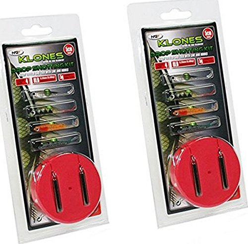 2 x Klones Drop Shot Lure Fishing Kits 5g - Full Rig Included by NGT