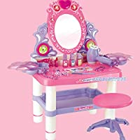 AnySell 30 Piece Pretend Girls Kids Dressing Table Make Up Beauty Vanity Desk Toy