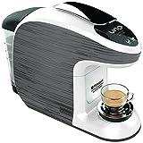 Hotpoint CM HB QGW0 Macchina Per Caffe Espresso, 1300 Watt, 0.85 Litri, Nero/Bianco