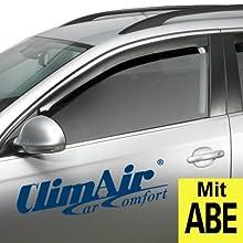 ClimAir CLS0033768D Windabweiser, Dunkel