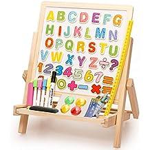 Lewo de madera plegable doble cara alfabeto número de piso del piso dibujo dibujo caballete Juguetes para niños