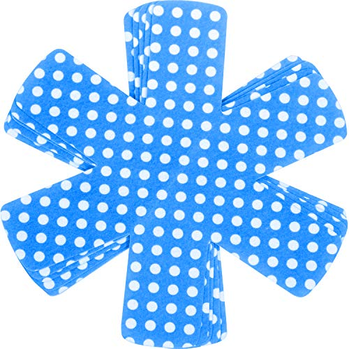 Chefarone proteggi pentole e salvapadelle set 5 pezzi - lunghezza 38,5 cm - perfetti per pentole e padelle antiaderenti in acciaio inox, ghisa, ceramica